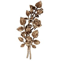 Wall plate roses left hand 38cm - 15in Bronze ornament for tombstone 3734-SX