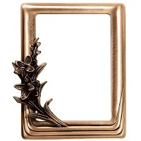Rectangular photo frame 11x15cm - 4,3x6in In bronze, wall attached 374-1115