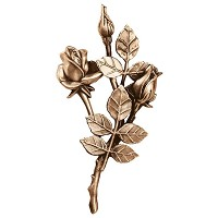 Wall plate roses right hand 25x13cm Bronze ornament for tombstone 3743-DX