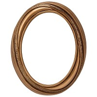 Oval photo frame 9x12cm - 3,5x4,75in In bronze, wall attached 375-912