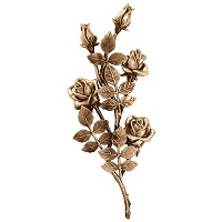 Wall plate roses 40x17cm Bronze ornament for tombstone 3750