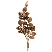 Wall plate roses 30x12cm - 11,9x4,75in Bronze ornament for tombstone 3754