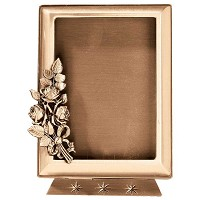 Rectangular photo frame 10x15cm - 4x6in In bronze, ground attached 378-1015