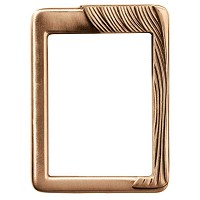 Rectangular photo frame 11x15cm - 4,3x6in In bronze, wall attached 384-1115