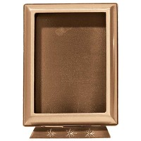 Rectangular photo frame 13x18cm - 5x7in In bronze, ground attached 385-1318