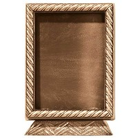 Rectangular photo frame 13x18cm - 5x7in In bronze, ground attached 393-1318