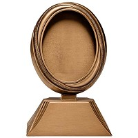 Oval photo frame 9x12cm - 3,5x4,75in In bronze, ground attached 395-912