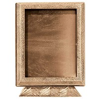 Rectangular photo frame 13x18cm - 5x7in In bronze, ground attached 396-1318