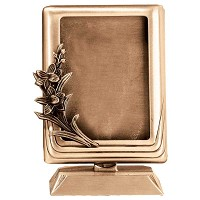 Rectangular photo frame 11x15cm - 4,3x6in In bronze, ground attached 397-1115