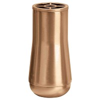 Flowers vase 21x12cm - 8,3x4,75in In bronze, with plastic inner, wall attached 432-P4