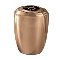 Flowers vase 19x15cm - 7,5x6in In bronze, with plastic inner, wall attached 442-P1