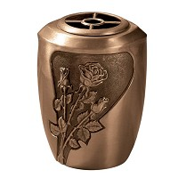 Flowers pot 20x14,5cm - 8x5,75in In bronze, with plastic inner, wall attached 492-R5