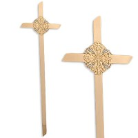 Cross Circle of life 45cm - 17,5in In bronze, for coffins OF/507