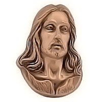 Wall plate Jesus Christ 11,5x16,5cm - 4,5x6,4in Bronze ornament for tombstone 51402