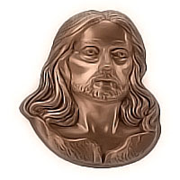 Wall plate Jesus Christ 27x30cm - 10,6x11,8in Bronze ornament for tombstone 51405