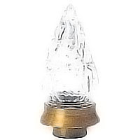 Crystal Flameshade 5x13cm-2x5,2in In crystal with ferrule to choice 51610
