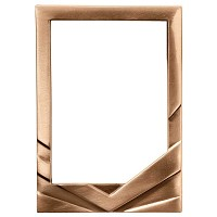 Rectangular photo frame 13x18cm - 5x7in In bronze, wall attached 8971-1318