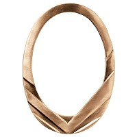 Oval photo frame 13x18cm - 5x7in In bronze, wall attached 8973-1318