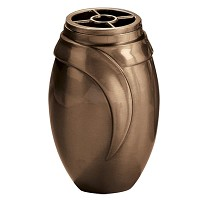 Flowers vase 19x12cm - 7,5x4,75in In bronze, with plastic inner, wall attached 9000-P4