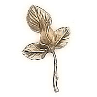 Wall plaque branch with bud 10x15cm - 3,9x5,9in Bronze ornament for tombstone 9006