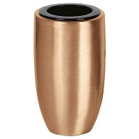 Flowers vase 11x6,5cm - 4,3x2,5in In bronze, with copper inner, wall attached 9010-R27