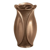 Flowers vase 12,5x7cm - 5x2,75in In bronze, with copper inner, wall attached 9037-R27