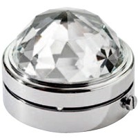 Crystal Half-sphere 6cm - 2in Led lamp or decorative flameshade for lamps and gravestones