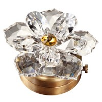 Crystal water lily 7,4cm - 3in Led lamp or decorative flameshade for lamps and gravestones