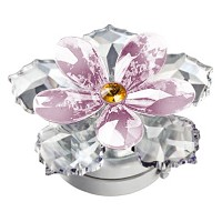 Pink crystal water lily 10cm - 4in Led lamp or decorative flameshade for lamps and gravestones