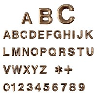 Letters and numbers Avant, in various sizes Individual bronze lettering