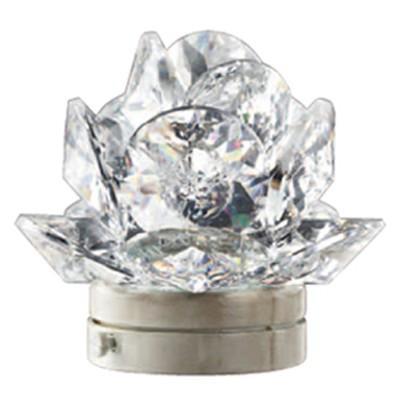 Rosa del deserto in cristallo 10cm lampada led o fiamma for Lampade votive a led