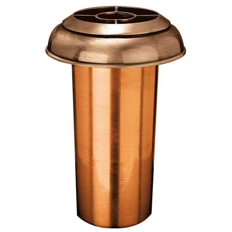 Vaso portafiori da incasso 4cm in bronzo con interno rame a terra 1054 r14 - Vaso da interno ...