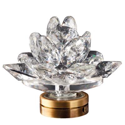 Rosa del deserto in cristallo 15cm lampada led o fiamma for Lampade votive a led