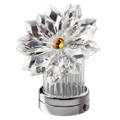 Fiocco di neve inclinato in cristallo 8 5cm lampada led for Lampade votive a led