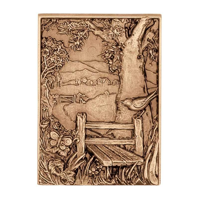 ornement fun raire 17x12cm d coration de bronze 3146. Black Bedroom Furniture Sets. Home Design Ideas