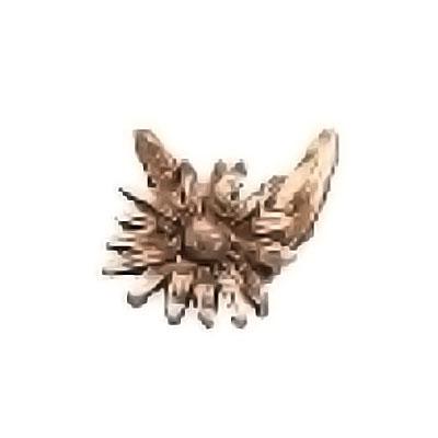 ornement fun raire branche avec marguerite 8x8cm d coration de bronze 54016. Black Bedroom Furniture Sets. Home Design Ideas