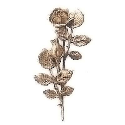 ornement fun raire branche avec roses fleuries central droit 12x28cm d coration de bronze 55005. Black Bedroom Furniture Sets. Home Design Ideas