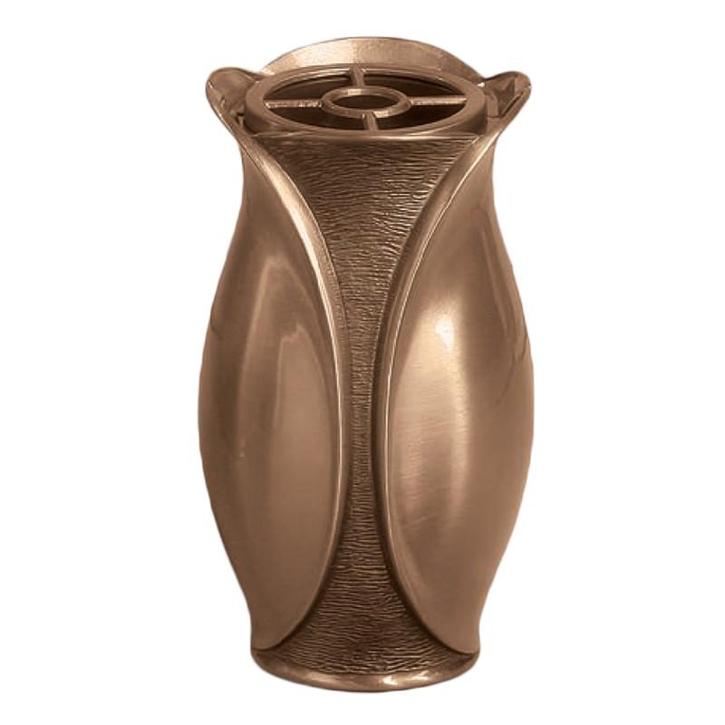 Vaso portafiori 20x11cm in bronzo con interno rame a for Vasi in terracotta prezzi