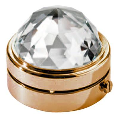 Mezzasfera in cristallo 4 5cm lampada led o fiamma for Lampade votive a led
