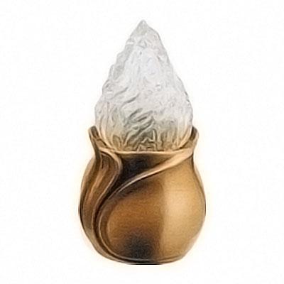 Lampada votiva 25cm in bronzo a terra 2515 for Lampade votive a led