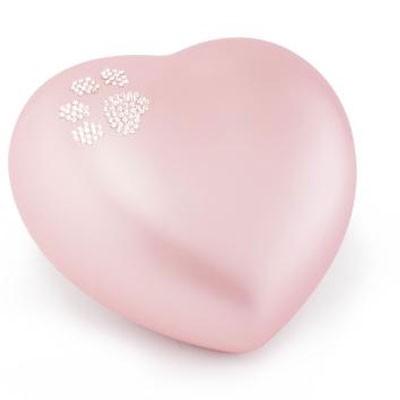 tierurne 8x15cm in rosa keramik tier fu abdruck muster swarovski. Black Bedroom Furniture Sets. Home Design Ideas