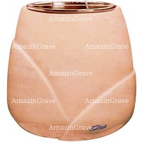 Flowers pot Liberti 19cm - 7,5in In Rosa Bellissimo marble, copper inner