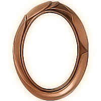 Oval photo frame 9x12cm- 3,5x4,7in In bronze, wall attached 1120