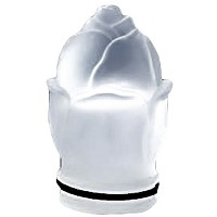Frosted crystal small bud 8cm - 3in Decorative flameshade for lamps