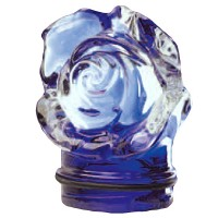 Blue crystal small rose 7,5cm - 3in Decorative flameshade for lamps