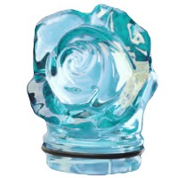 Sky blue crystal small rose 7,5cm - 3in Decorative flameshade for lamps