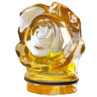 Yellow crystal small rose 7,5cm - 3in Decorative flameshade for lamps