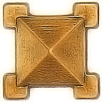 Stud 3,5x3,5cm - 1,3x1,3in In bronze, with threaded pin steel 1316