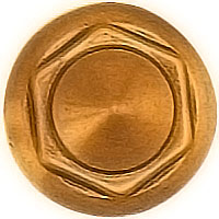 Stud 4cm - 1,5in In bronze, with threaded pin steel 1318