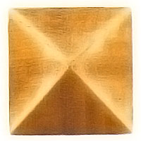 Stud 4x4cm - 1,5x1,5in In bronze, with threaded pin steel 1351